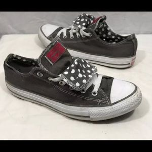 Converse All Stars Gray Double Tongue Sneakers 10